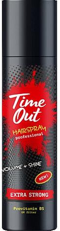 Bardzo mocny lakier do włosów - Time Out Hairspray Extra Strong Volume And Shine  — фото N1