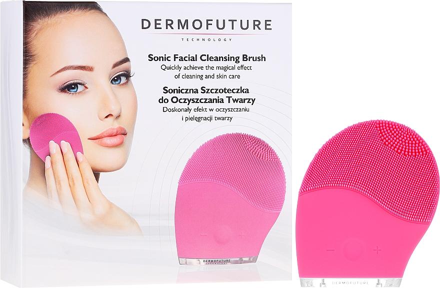 Szczoteczka soniczna do oczyszczania twarzy, różowa - DermoFuture