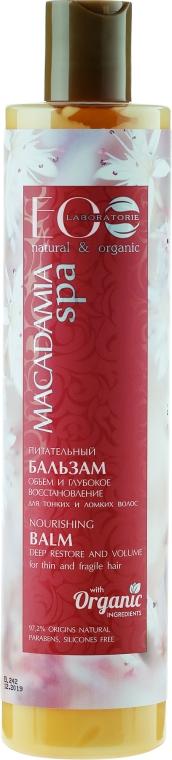 Odżywczy balsam do włosów cienkich i wrażliwych - ECO Laboratorie Macadamia Spa Nourishing Balsam Deep Restore And Volume