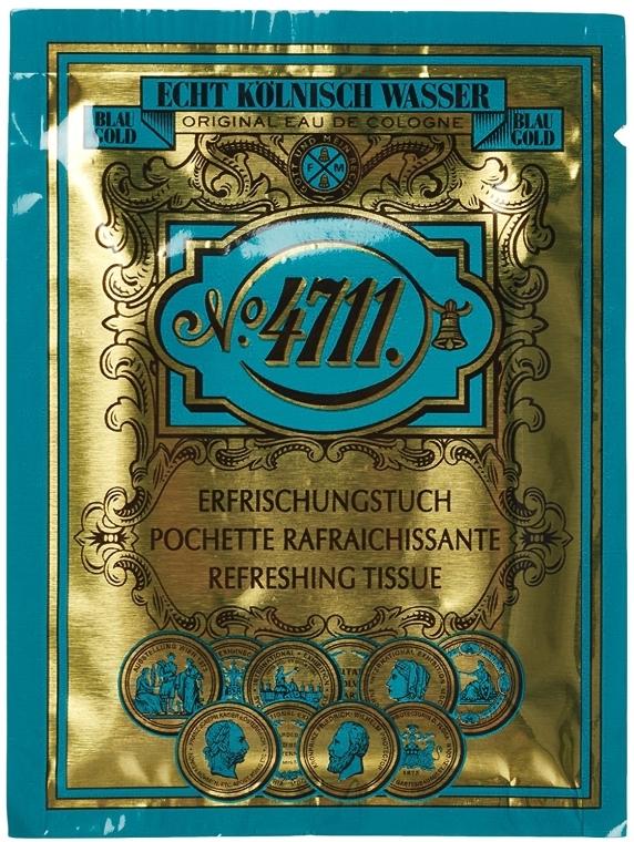 Maurer & Wirtz 4711 Original Eau de Cologne - Chusteczka odświeżająca — фото N1