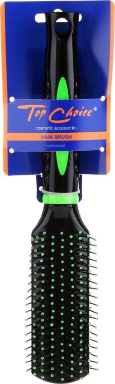Szczotka do włosów, 63596, zielona - Top Choice — фото N1