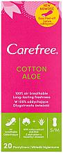 Kup PRZECENA! Wkładki higieniczne z wyciągiem z aloesu, 20 szt. - Carefree Cotton Aloe *