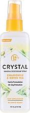 Mineralny dezodorant w sprayu do ciała Rumianek i zielona herbata - Crystal Essence Deodorant Spray — фото N1