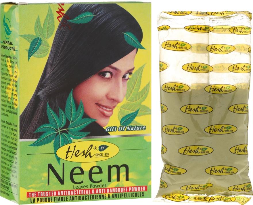 Przeciwłupieżowy proszek antybakteryjny do włosów - Hesh Neem Leaves Powder — фото N1