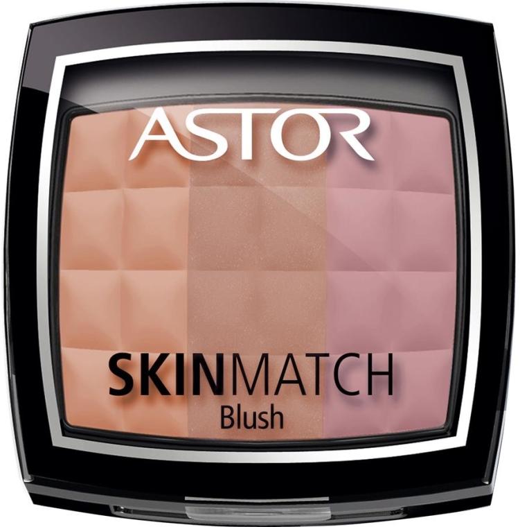 Róż do policzków w kamieniu - Astor Skin Match Trio Blush