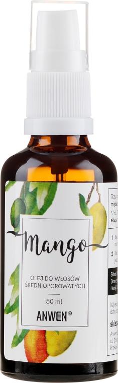 Olej do włosów średnioporowatych Mango - Anwen (w szkle)
