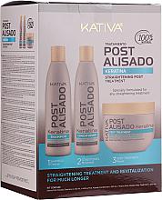 Kup PRZECENA! Zestaw - Kativa Straightening Post Treatment Keratin (shm 250 ml + cond 250 ml + mask 250 ml) *