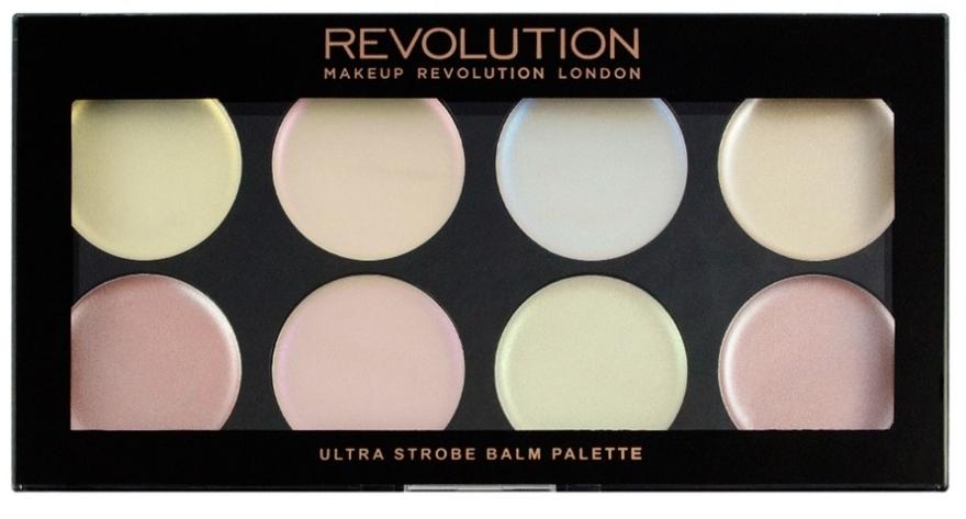 Paleta kremowych rozświetlaczy - Makeup Revolution Ultra Strobe Balm Palette