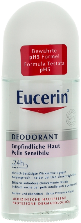 Dezodorant w kulce do skóry wrażliwej - Eucerin Deodorant Empfindliche Haut 24h roll-on
