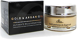 Kup PRZECENA! Odmładzający krem do twarzy z olejem arganowym i cząsteczkami złota - Sayaz Cosmetics Gold Particles And Argan Oil Revitalizing Face Cream 24H *