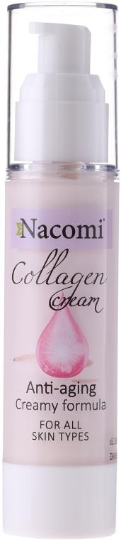Przeciwstarzeniowy żel-krem kolagenowy do twarzy - Nacomi Collagen Cream Anti-aging