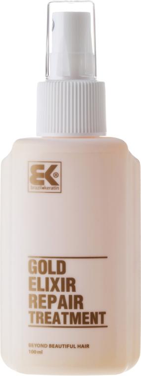 Naprawczy eliksir do włosów - Brazil Keratin Gold Elixir Repair Treatment — фото N3