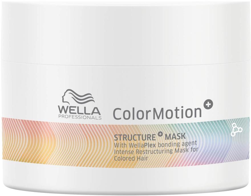 Maska do intensywnej regeneracji włosów farbowanych - Wella Professionals Color Motion+ Structure Mask (miniprodukt) — фото N1