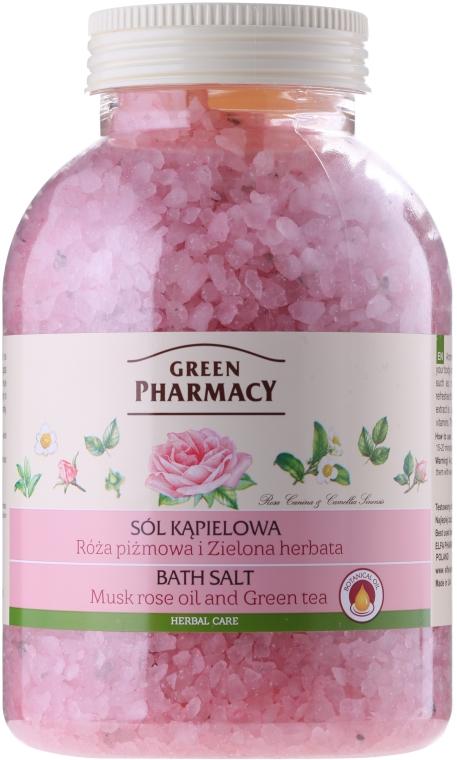 Sól do kąpieli Róża piżmowa i zielona herbata - Green Pharmacy