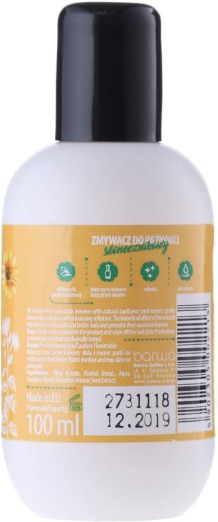 Bezacetonowy zmywacz do paznokci z ekstraktem z nasion słonecznika - Barwa Natural Nail Polish Remover — фото N2