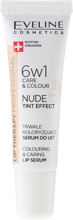 Intensywne serum do ust nadające kolor 6 w 1 - Eveline Cosmetics Lip Therapy Proffesional Tint