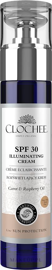 Rozświetlający krem do twarzy - Clochee Illuminating Cream SPF30 — фото 50 ml