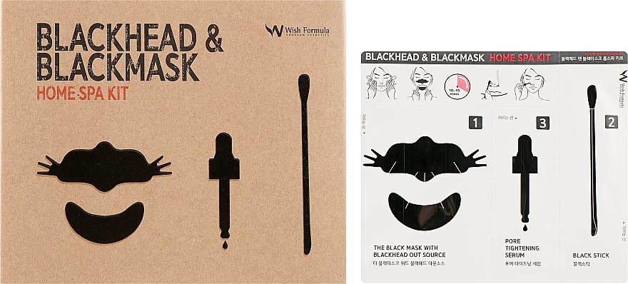 Zestaw do oczyszczania twarzy z zaskórników - Wish Formula Blackhead & Blackmask Home Spa Kit — фото N1