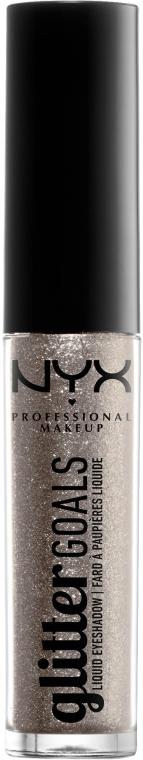 Brokatowe cienie do powiek w płynie - NYX Professional Makeup Glitter Goals Liquid Eyeshadow — фото N1