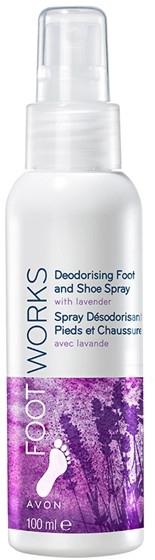 Spray do stóp i obuwia Lawenda - Avon Foot Works Deodorising Spray