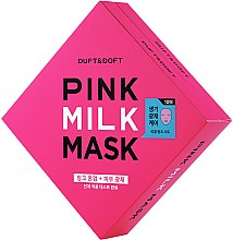 Kup PRZECENA! Mleczna maska w płachcie do twarzy - Duft & Doft Pink Milk Mask Tone Up+ Radiance *