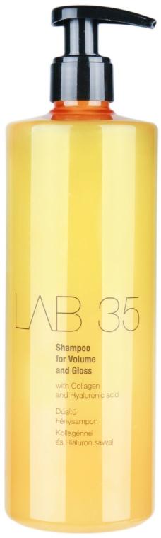 Nabłyszczający szampon dodający włosom objętości - Kallos Cosmetics LAB35 Shampoo For Volume and Gloss