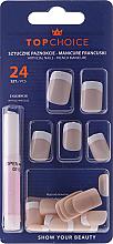 Kup PRZECENA! Sztuczne paznokcie French, 74073 - Top Choice *