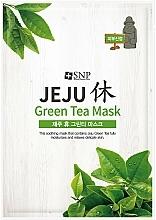 Kup Kojąca maseczka w płachcie do twarzy z zieloną herbatą - SNP Jeju Rest Green Tea Mask