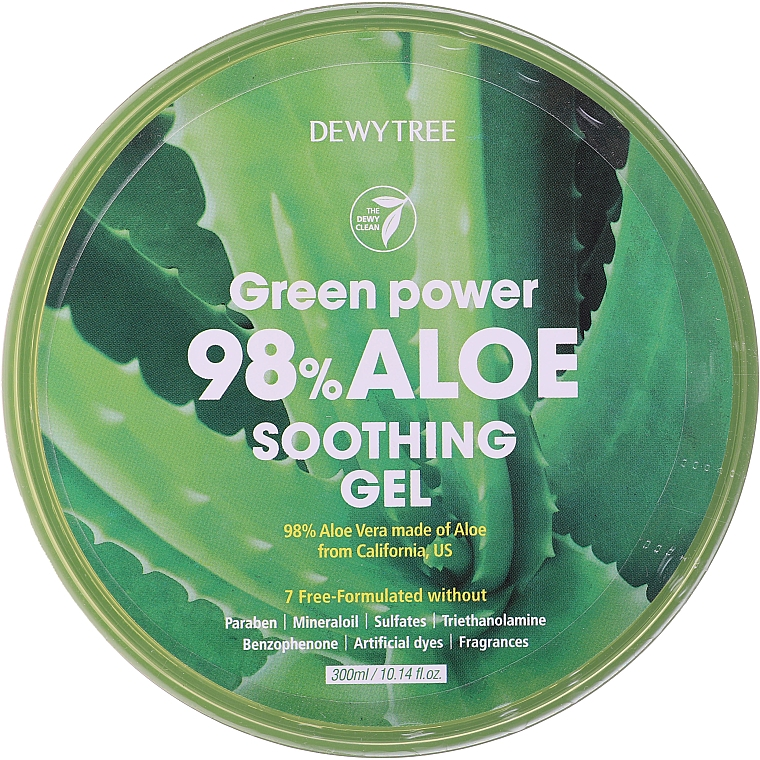 Kojący żel z aloesem - Dewytree Green Power Aloe Soothing Gel — фото N3