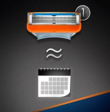 Wymienne wkłady do maszynki, 2 szt. - Gillette Fusion Power — фото N5