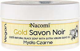 Kup 100% naturalne mydło czarne z oliwą - Nacomi Gold Savon Noir