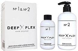 Kup Zestaw: stymulator wiązań + wzmacniacz wiązań - Stapiz Deep Plex System No.1 & No.2 Set (hair/emulsion 150 ml + hair/emulsion 290 ml)