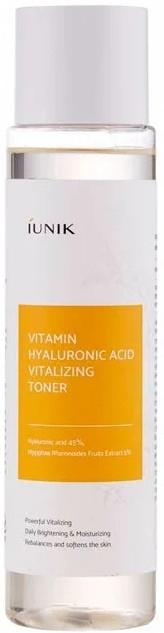 Rewitalizujący tonik do twarzy z witaminami i kwasem hialuronowym - IUNIK Vitamin Hyaluronic Acid Vitalizing Toner