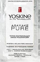 Kup Termo-oczyszczający zabieg wulkaniczny - Yoskine Asayake Pure Pore Purifying Volcanic Thermal Treatment Scrub + Mask