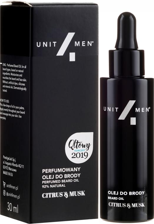 Perfumowany olej do brody - Unit4Men Citrus&Musk Perfumed Beard Oil — фото N1