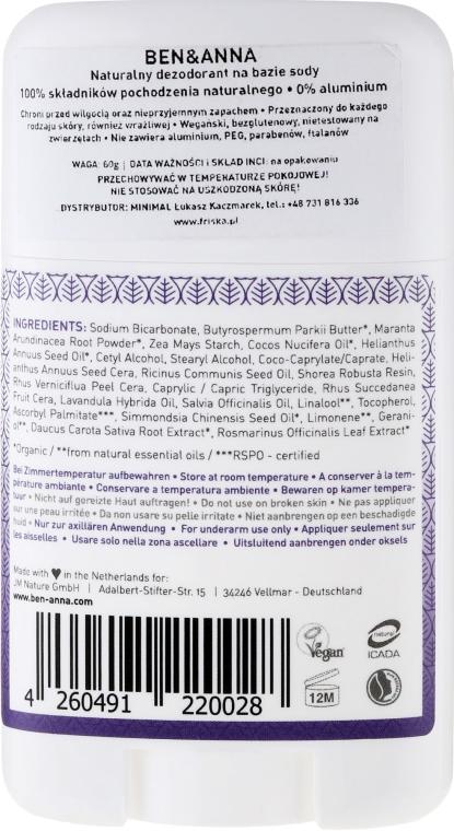 Dezodorant w sztyfcie na bazie sody Prowansja - Ben & Anna Natural Soda Deodorant Provence — фото N2