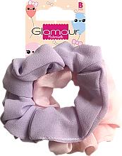 Kup Gumki-scrunchie do włosów, 417616, różowa i fioletowa - Glamour