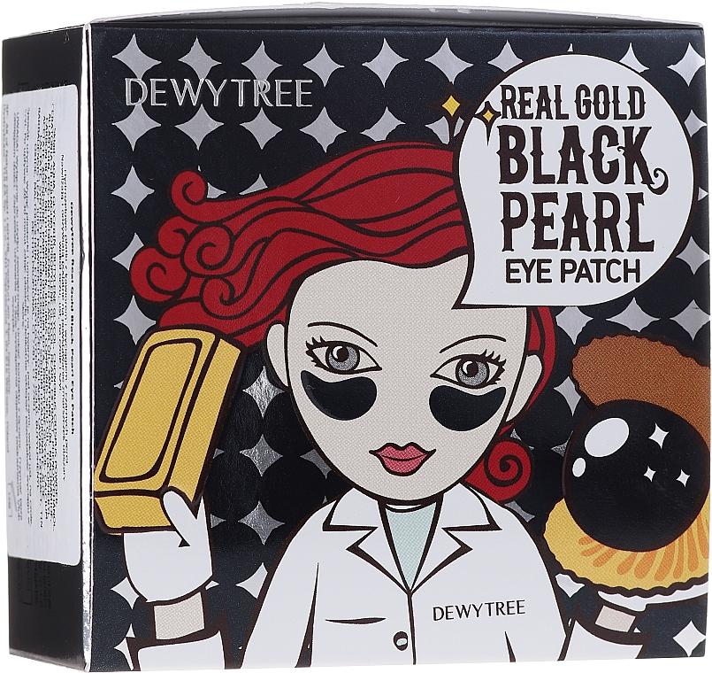 Hydrożelowe płatki z kawiorem i wyciągiem z czarnych pereł - Dewytree Real Gold Black Pearls Eye Patch