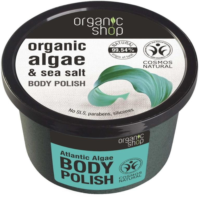 Scrub do ciała Atlantyckie wodorosty - Organic Shop Body Scrub Organic Algae & Sea Salt