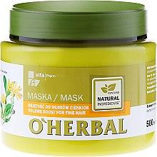 Kup Maska z ekstraktem z arniki zwiększająca objętość włosów cienkich - O'Herbal