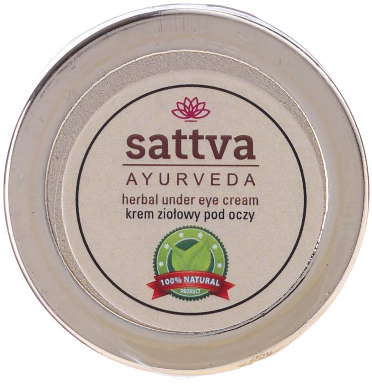Ziołowy krem do wrażliwej skóry pod oczami - Sattva Ayurveda Under Eye Cream — фото N2
