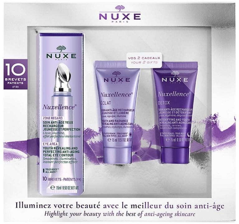 Zestaw - Nuxe Nuxellence (eye/cr/15ml + fluid/15ml + night/fluid/15ml) — фото N1