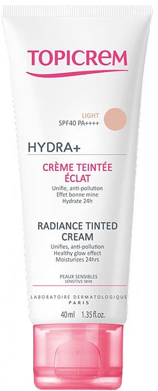 Rozświetlający podkład do twarzy - Topicrem Hydra+ Radiance Tinted Cream SPF 40