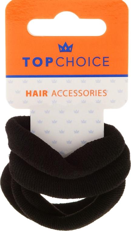 Gumki do włosów 4 szt., czarne - Top Choice