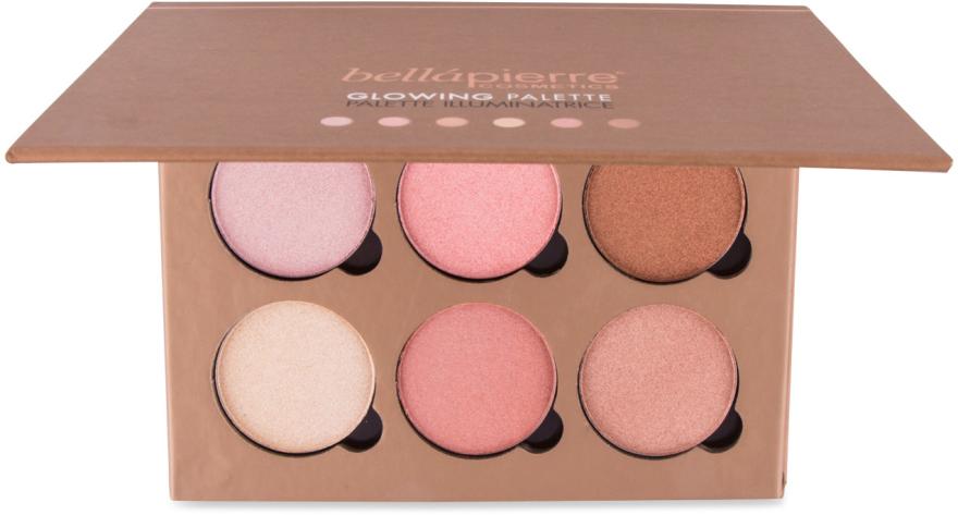 Paletka rozświetlaczy do twarzy - Bellapierre Cosmetics Glowing Palette — фото N1