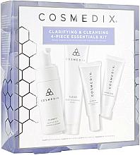 Kup Zestaw - Cosmedix Clarifying & Cleansing 4-Piece Essentials Kit (f/cleanser/60ml + f/ser/15ml + f/mask/30g + f/cr/15ml)