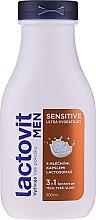 Kup Deliatny ultranawilżający żel pod prysznic 3 w 1 dla mężczyzn - Lactovit Men Sensitive 3v1 Shower Gel