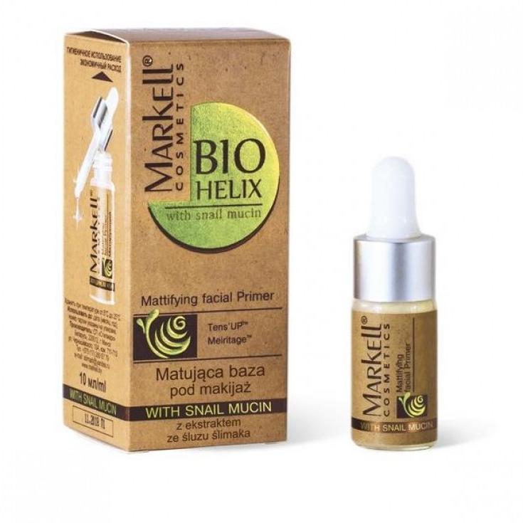 Matująca baza pod makijaż z ekstraktem ze śluzu ślimaka - Markell Cosmetics Base — фото N1