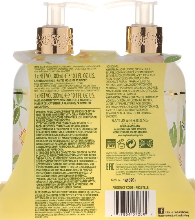 Zestaw do pielęgnacji ciała - Baylis & Harding Royale Bouquet Lemon Blossom & White Rose (b/lot 300 ml + soap 300 ml) — фото N3