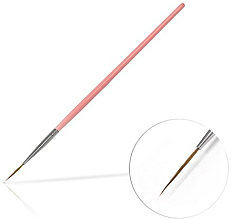 Kup Pędzelek do zdobienie paznokci, 15 mm, różowy - Silcare Brush 03
